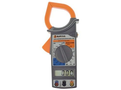Alicate Amperimetro Multimetro Digital Suryha 80150048