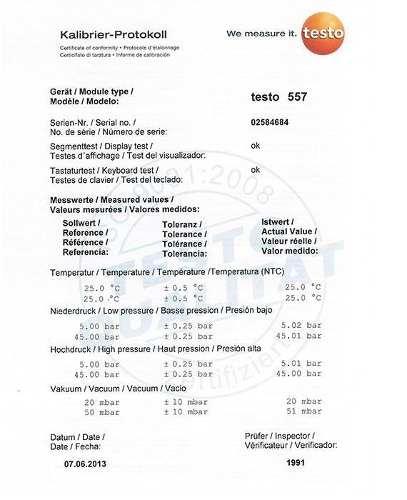 Kit Manifold Digital Testo 557 Bluetooth 4 Vias com 4 Mangueiras