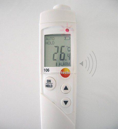 Termômetro de imersão Penetração Medição Testo 106 Kit