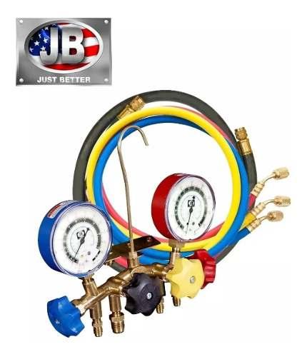 Manifold 4 Vias Jb (m4-5) R12 R22 R502b 4 Mangueiras 1 Vácuo