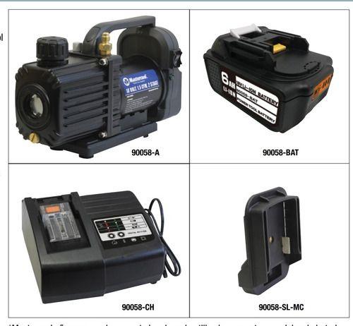 Bomba de Vácuo Duplo Estágio 1,5 Cfm Com Bateria Mastercool