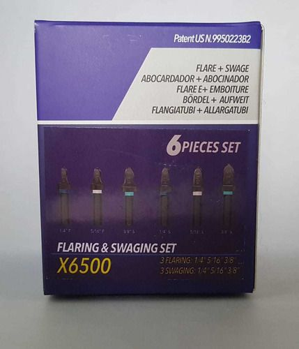 Kit Spin X6500 3 Flangeador + 3 Alargador 1/4 5/16 3/8