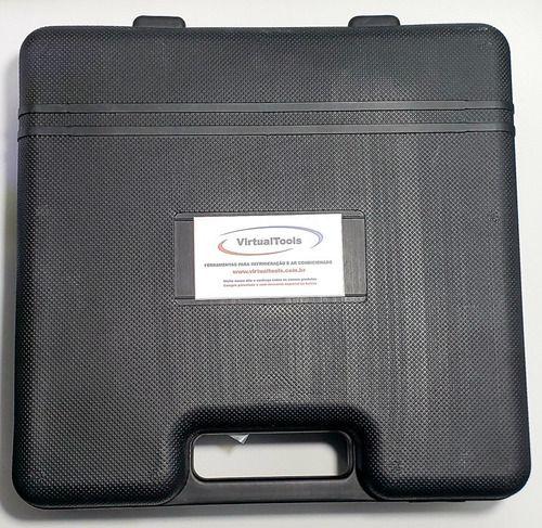Manifold r12 r22 r134 r404a com maleta ET636B Mangueira 90cm