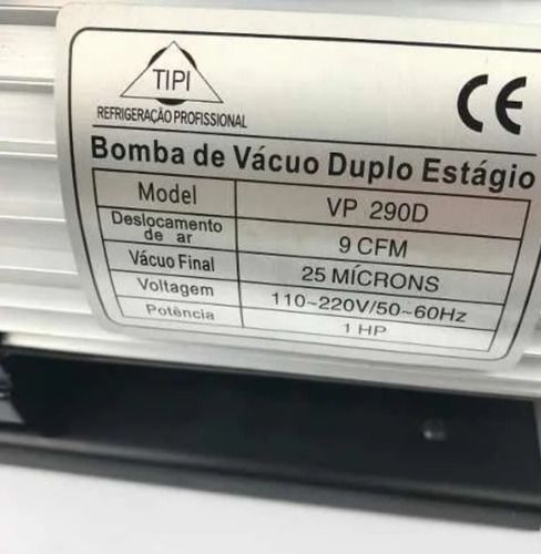 Bomba De Vácuo 9 Cfm Tipi 290d Duplo Estagio