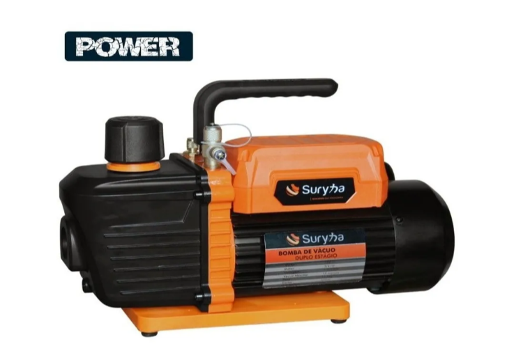 Bomba de vácuo 12 CFM Power Suryha + (1) litro de óleo (2) x 500ml
