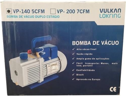 Bomba De Vácuo 5 Cfm Duplo Estágio Bivolt - Vulkan