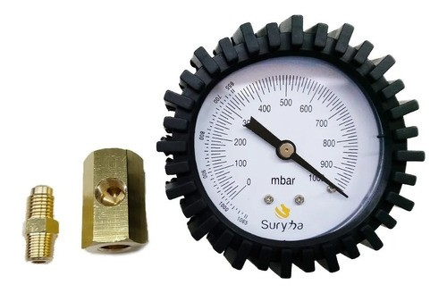 Bomba de vacuo 5 CFM + vacuometro analogico + 500ml Óleo - SURYHA
