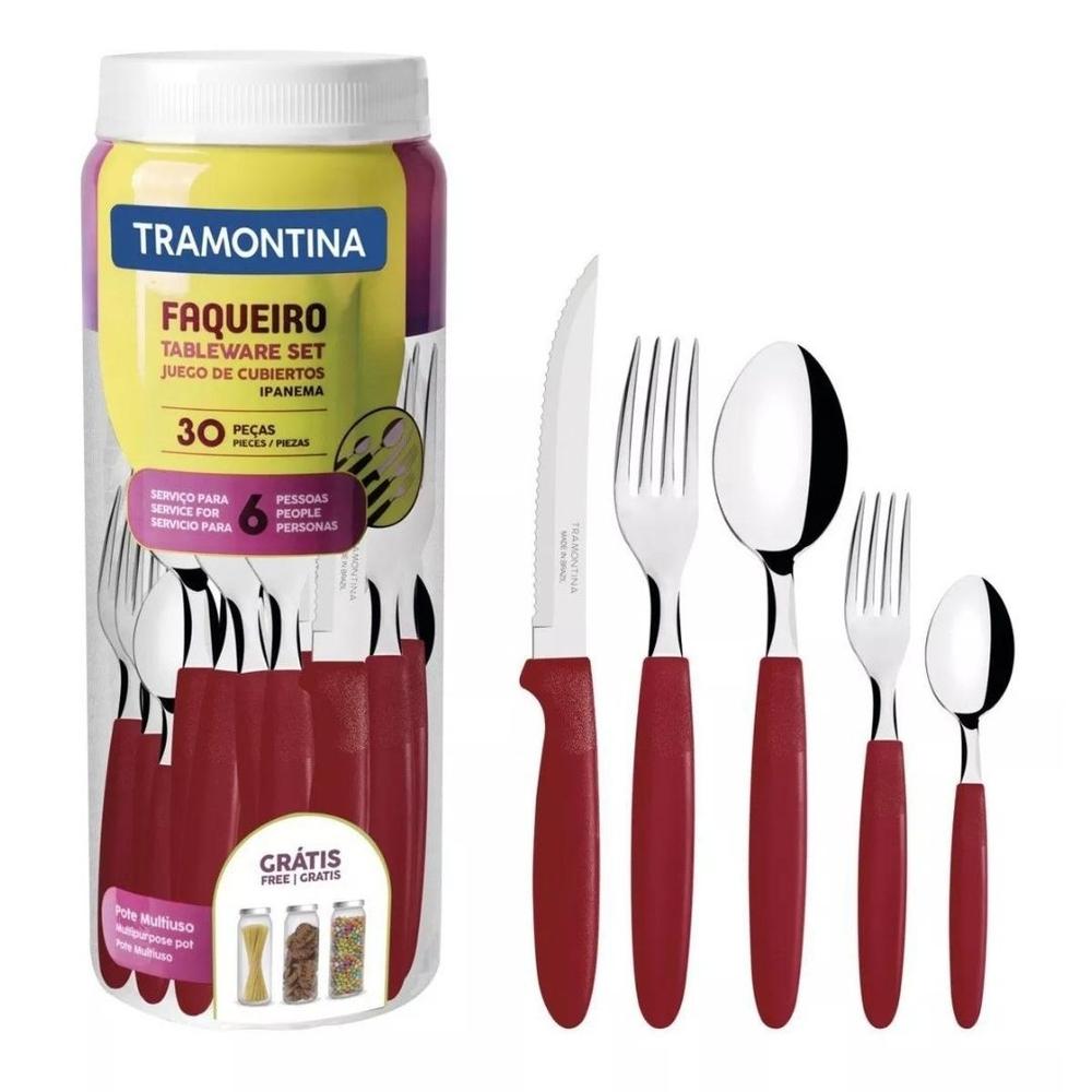 Faqueiro Ipanema Aço Inox 30 Pçs 23398788 Tramontina Anúncio com variação