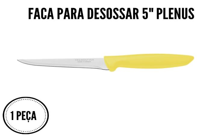 Jogo De Facas Tramontina Churrasco Inox 6un Plenus Colorida