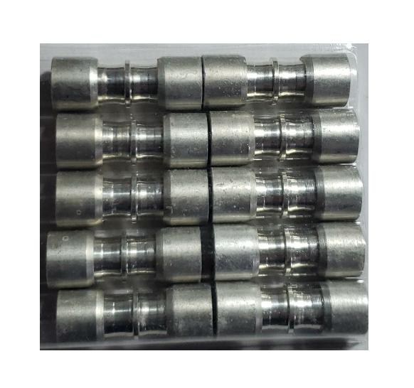 Kit (10) Conexão Junta Tubo Aluminio 3/8 x 3/8 ET9595AL02