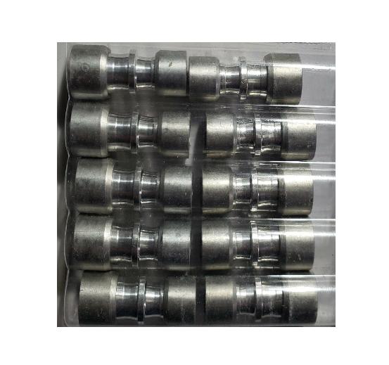 Kit (10) Conexão Junta Tubo Aluminio 3/8 x 5/16 - ET9580AL02