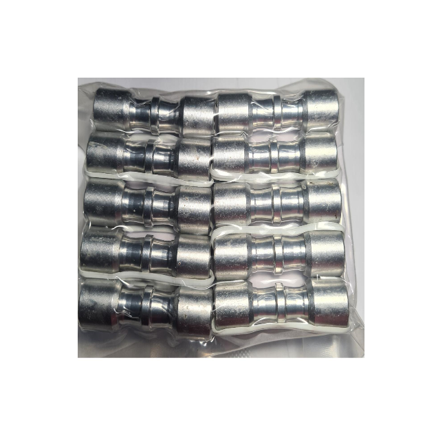 Kit (10) Conexão Junta Tubo Aluminio 5/16 x 5/16 - ET8080AL02