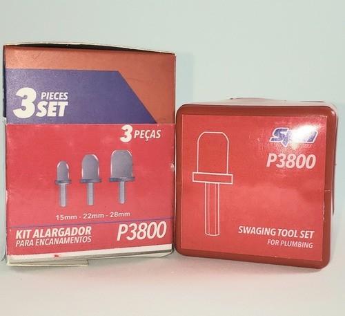 Kit Alargador Spin P3800 para Encanamentos 15 22 28 mm Cobre