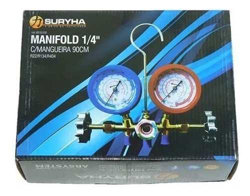 Kit com 02 Manifolds r410 e r22 sem maleta
