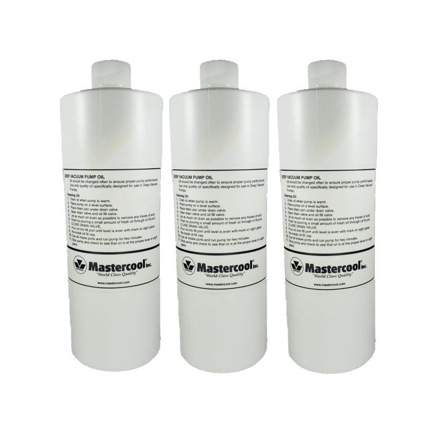 Kit com 03 óleos para bomba de vácuo Mastercool