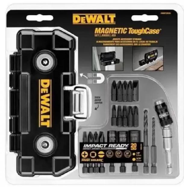 Kit De Bits P/ Parafusar + Estojo Magnético Dwmtcir20 DeWALT