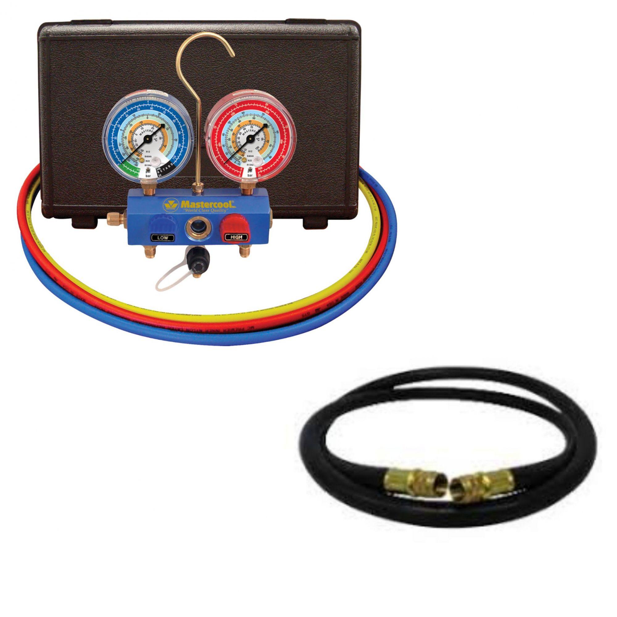 Kit Manifold Premium 57261-ejt r410 + Mangueira de vácuo 94172 Mastercool