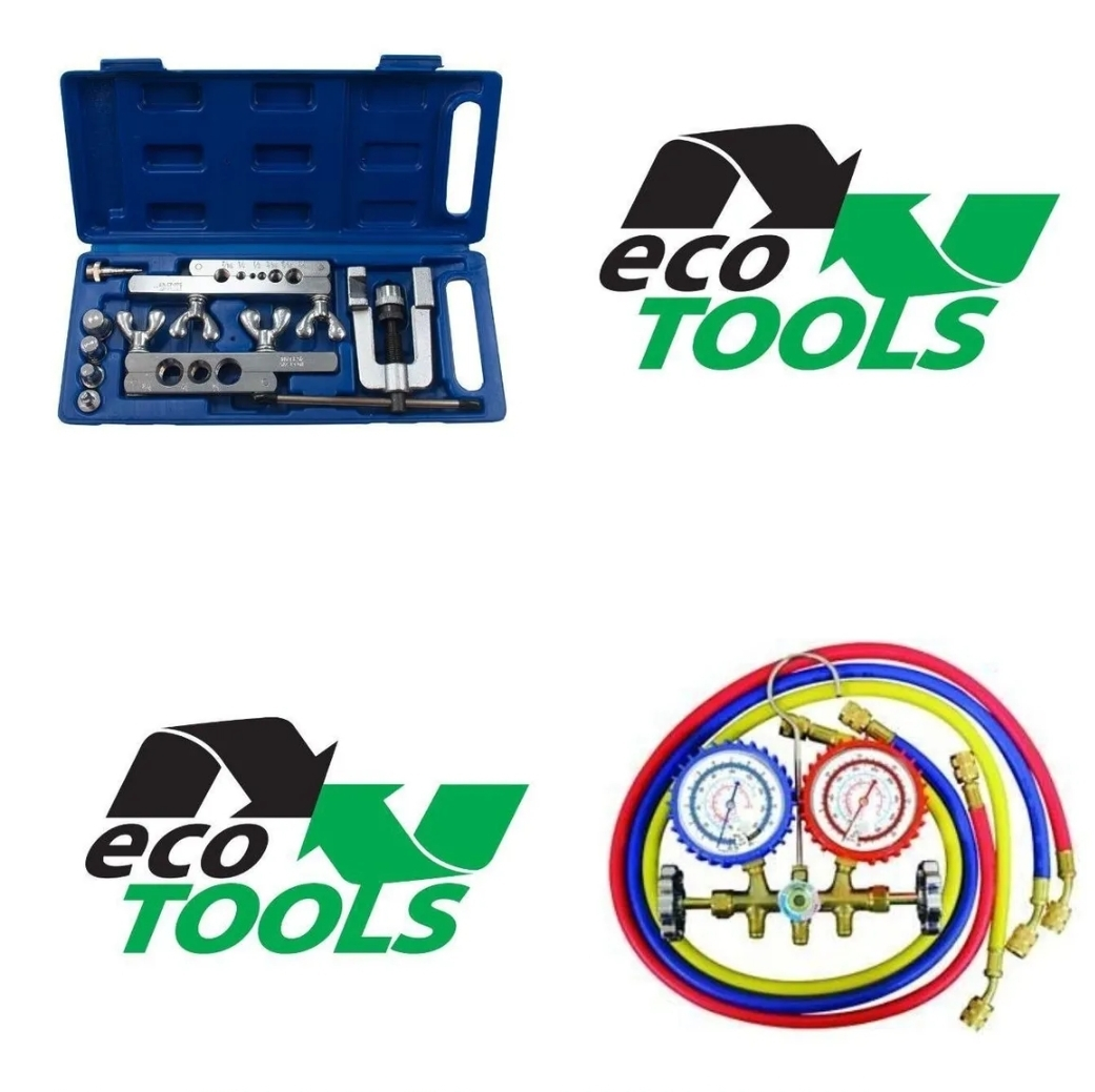 Kit Manifold R410a R22 R404 R507 + Kit Flangeador - Ecotools