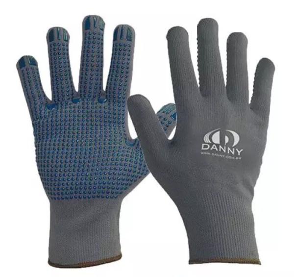 Luva de segurança tricotada em nylon - POLIFLEX PIGMENTADA DA-11300 G