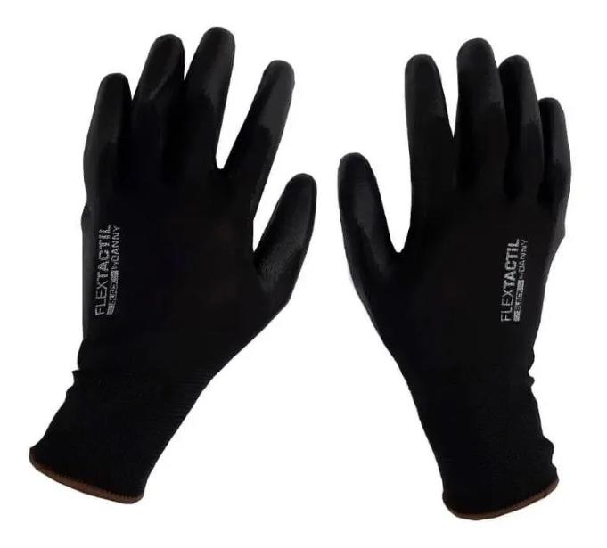 LUVA FLEXTÁCTIL de segurança tricotada em nylon - DA12100 - PRETO - G