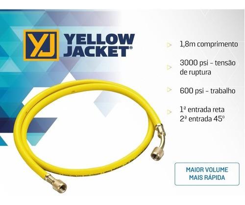Mangueira De Alto Vácuo Yellow Jacket 3/8 180 Cm 3000 Psi