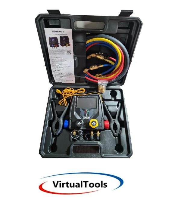 Manifold Digital Bluetooth 4 Vias SPARTAN/4 Mangueiras / 2 sensores / MASTERCOOL 99946-BT-2BVE