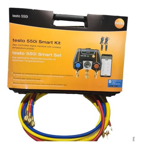 Manifold Digital Bluetooth Testo 550i 2 115i Maleta 4 Mangueiras