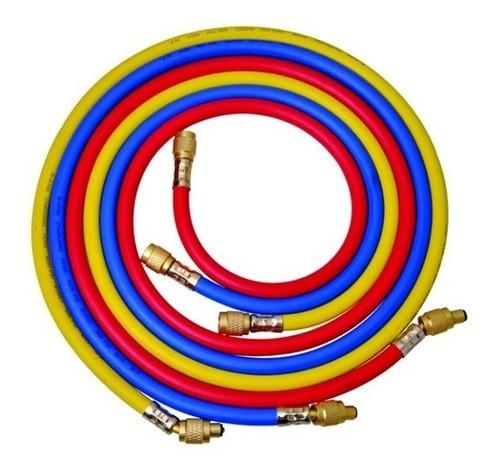 Manifold R410/R22/R407c/R404a - Mangueiras R22 1/4 e R410 5/16 90cm