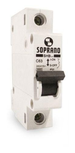Mini Disjuntores Shb 1p X 25a Soprano 20003.1750.14