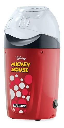 Pipoqueira Elétrica Mallory Mickey Mouse Ar Quente Vermelho 1200w 127v
