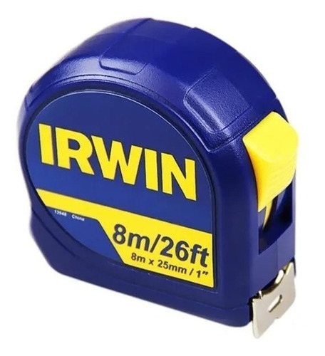 Trena Manual Fita De Aço 8m X 25mm Standard Irwin Iw13948