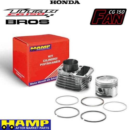 Kit Cilindro Motor NXR 150 Bros / Titan 150 / Fan 150 - HAMP