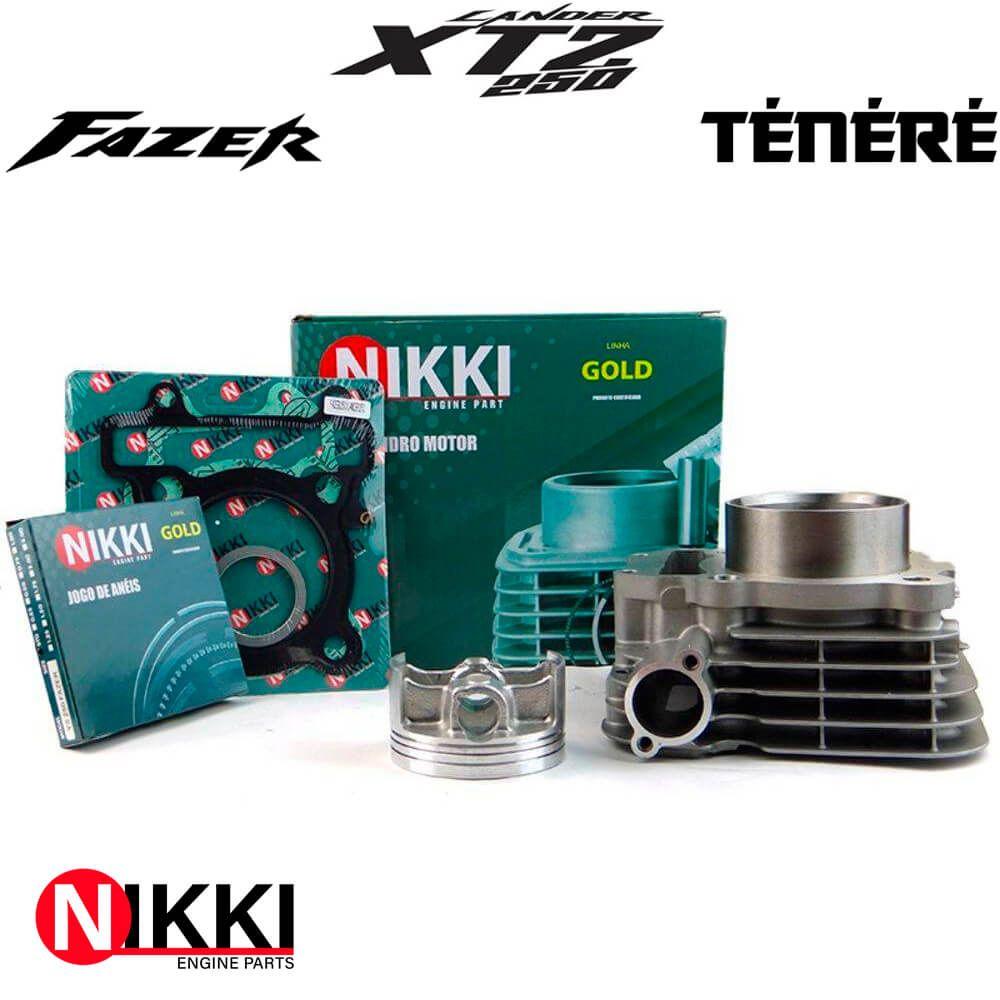 Kit Cilindro Motor XTZ 250 Lander / YS 250 Fazer / XTZ 250 Ténéré - NIKKI GOLD