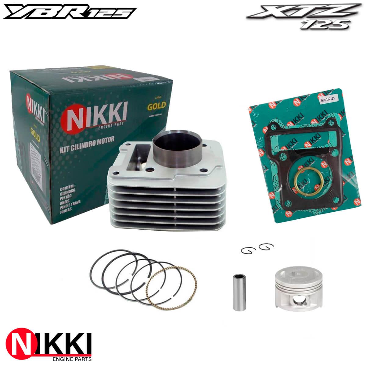 Kit Cilindro Motor YBR / Factor / XTZ 125 - NIKKI GOLD