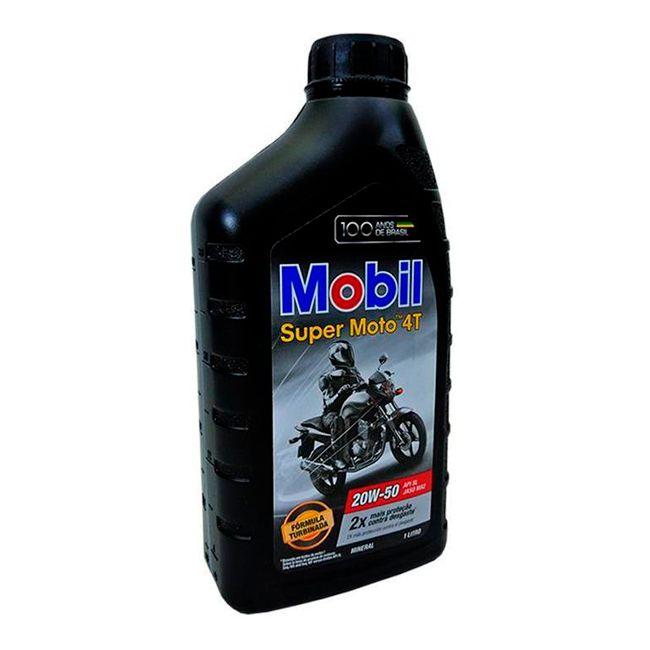 Óleo Motor 4T Mobil Super Moto - 20W-50 - Mineral