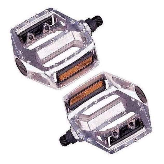Pedal Plataforma Free Style Alumínio Natural 9/16 (Eixo Grosso)