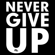 Camiseta - NEVER GIVE UP. Masculino