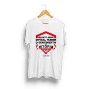 Camiseta - QUANTO MAIS DIFÍCIL, MAIOR O SENTIMENTO DE VITÓRIA - Masculino