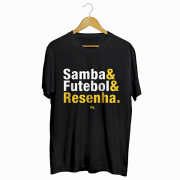Camiseta - SAMBA, FUTEBOL E RESENHA! Masculino