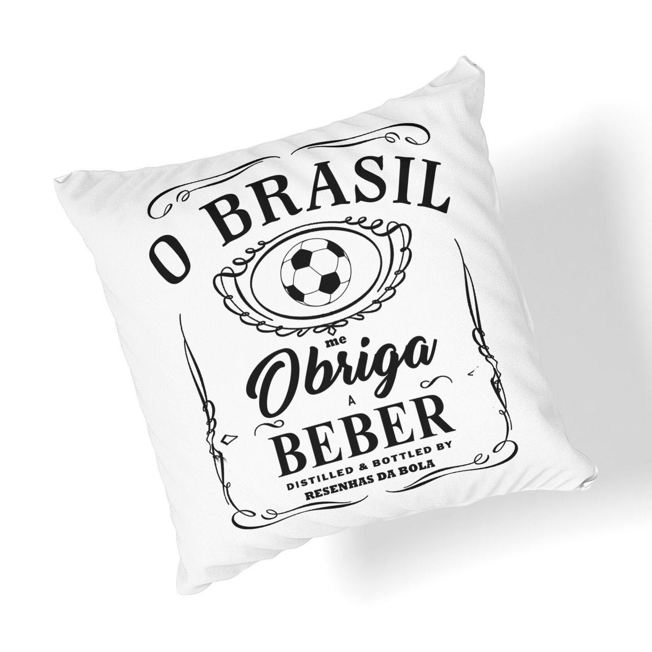 Almofada Brasil me Obriga a Beber