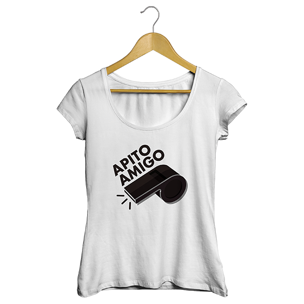 Camiseta - APITO AMIGO. Feminino