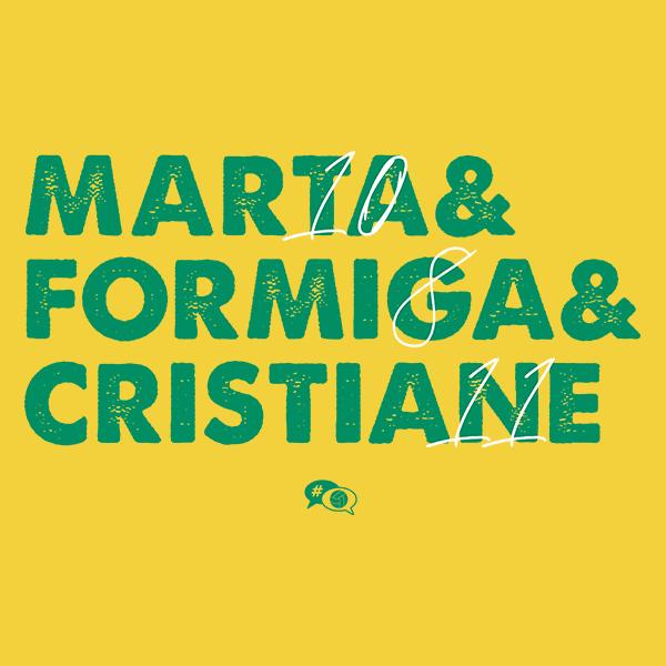 Camiseta - BRASIL: MARTA, FORMIGA, CRISTIANE. Feminino