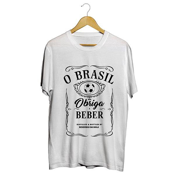 Camiseta - BRASIL ME OBRIGA A BEBER! Masculino