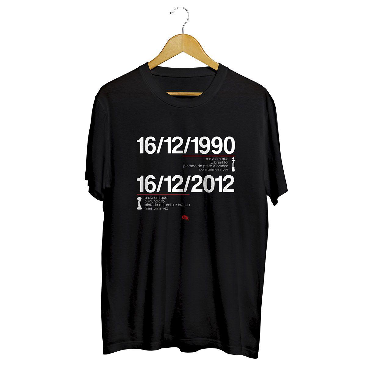 Camiseta - COR: DIA PRETO E BRANCO. Masculino