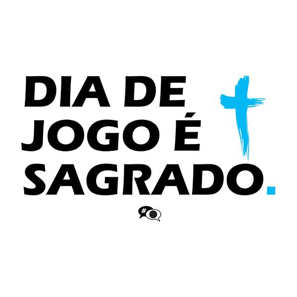 Camiseta - DIA DE JOGO É SAGRADO. Masculino