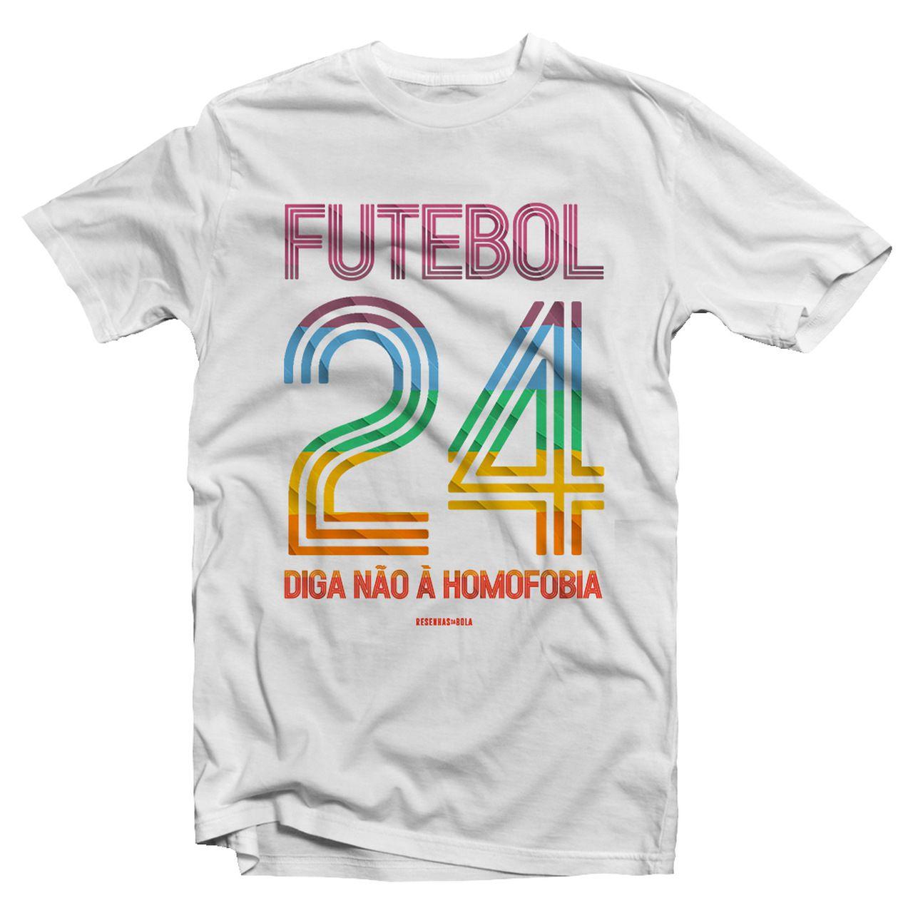 Camiseta - DIGA NÃO À HOMOFOBIA. Masculino