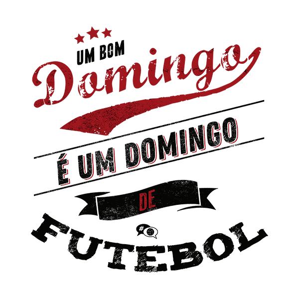 Camiseta - DOMINGO DE FUTEBOL. Masculino