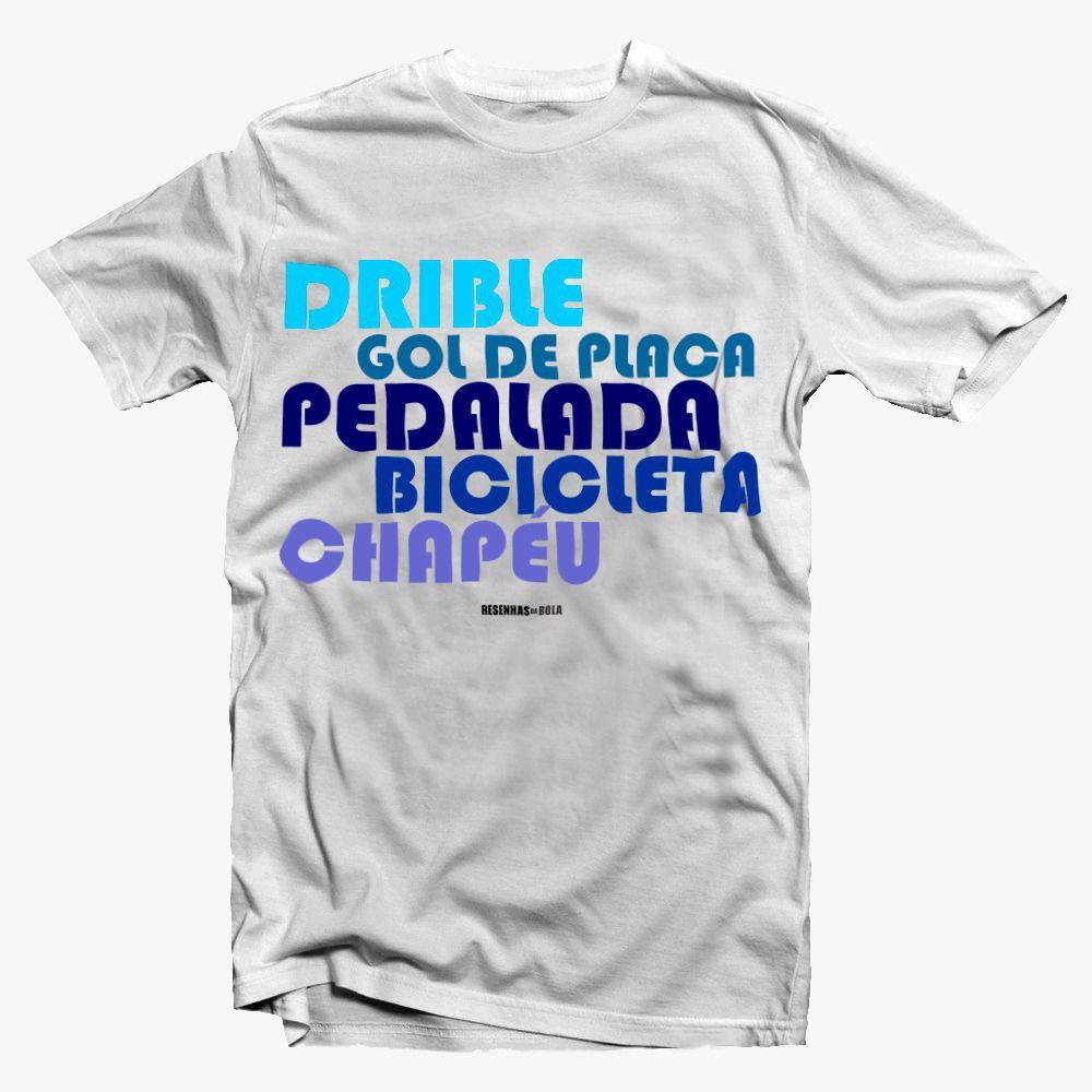 Camiseta - Dribe, gol de placa e pedalada - Masculino
