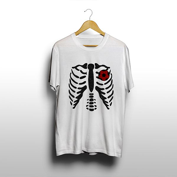 Camiseta - ESQUELETO. Masculina
