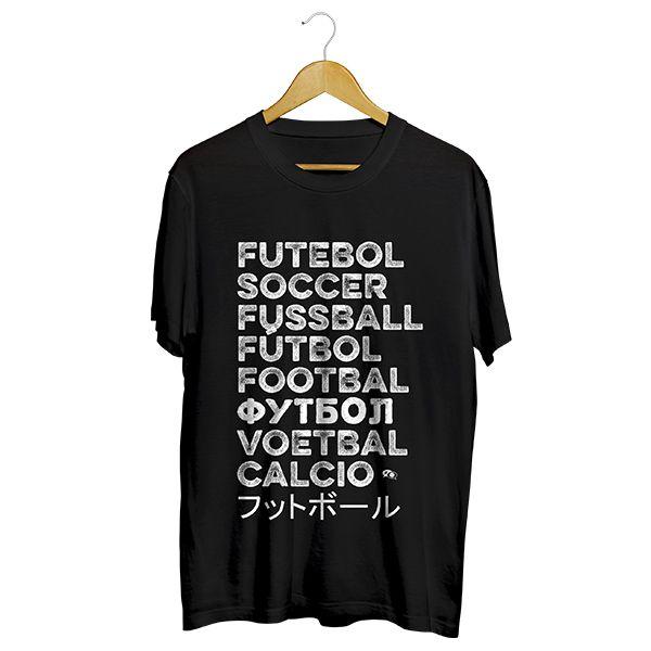 Camiseta - FUTEBOL NO MUNDO. Masculino